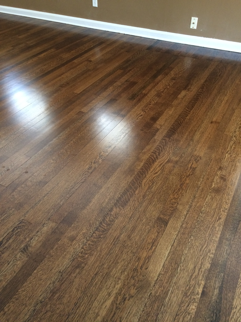 ... and a satin finish on these hardwood floors by Heavenly Hardwood